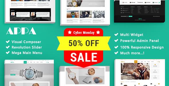 Appa - Watch Store Responsive WooCommerce WordPress Theme - WooCommerce eCommerce