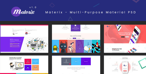 ThemeForest Materix Multi-Purpose Material PSD Template 21030955