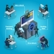Isometric Hacking Activity Composition - GraphicRiver Item for Sale