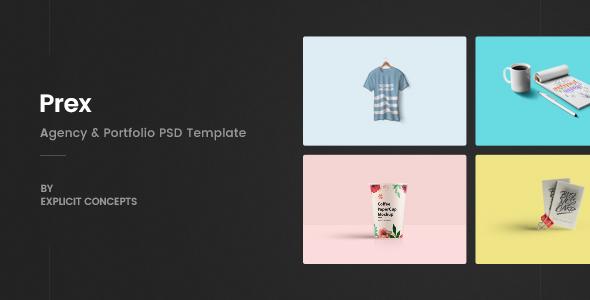 Prex | Creative Agency & Portfolio PSD Template - Portfolio Creative
