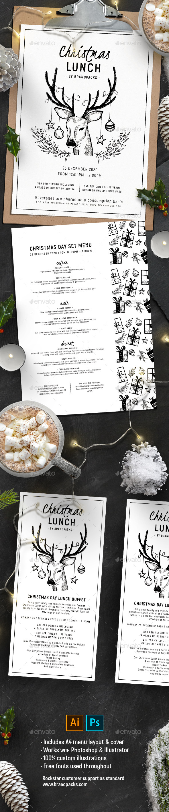 GraphicRiver Christmas Menu Vol 2 21031275