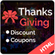 Thanksgiving - HTML5 template for the Discount offers and coupon codes - ThemeForest Item for Sale