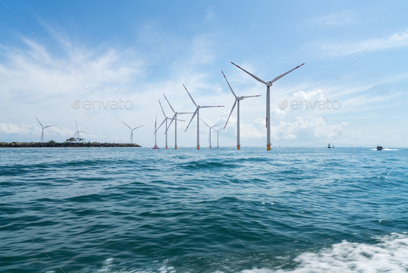 offshore wind farm - Stock Photo - Images