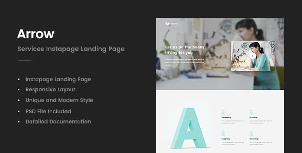 Arrow - Instapage Landing Page