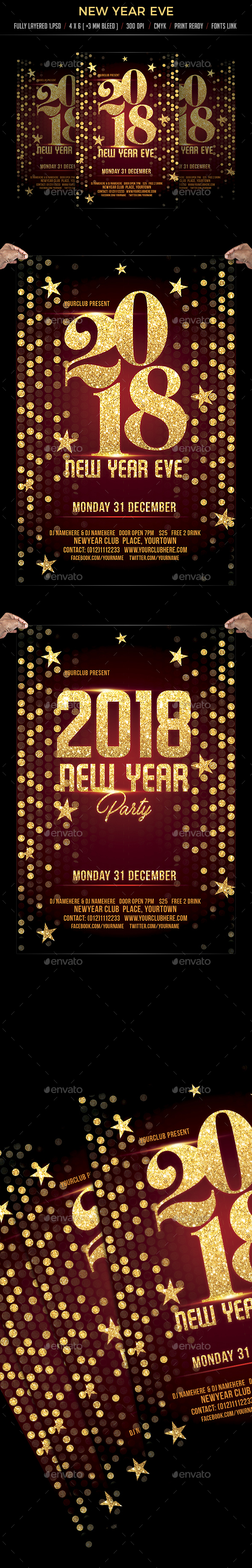 GraphicRiver New Year Eve Flyer Template 21031482