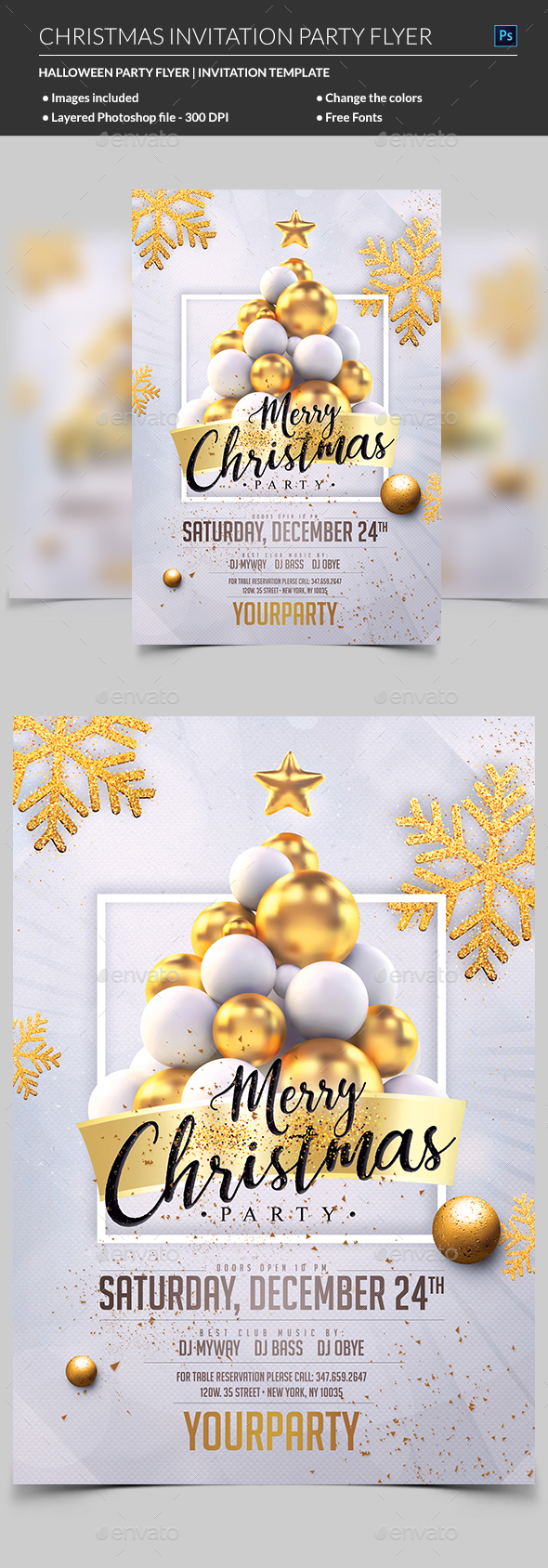 GraphicRiver Christmas Party Invitation 21031735