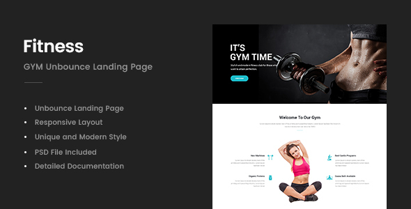 Image of Fitness - GYM Unbounce Template