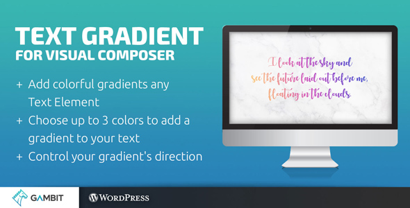 CodeCanyon Text Gradient for Visual Composer 21031896
