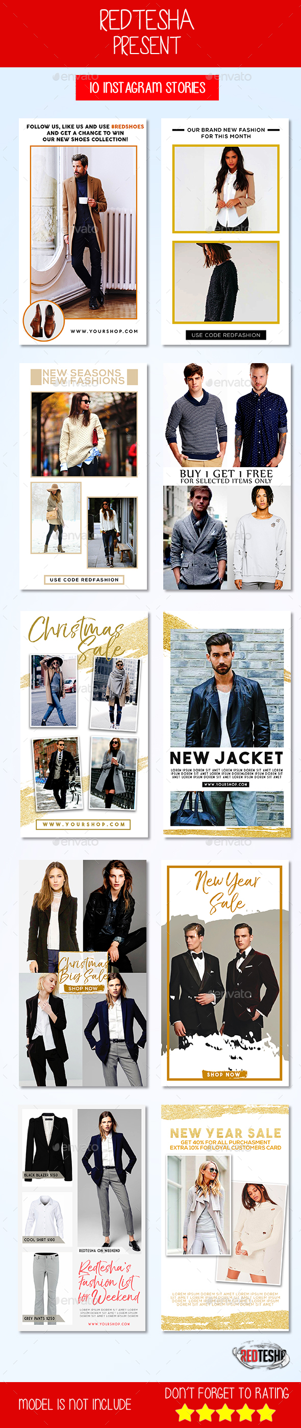 GraphicRiver 10 Instagram Stories Ads 21031916