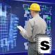 Builder Using futuristic Screen - VideoHive Item for Sale