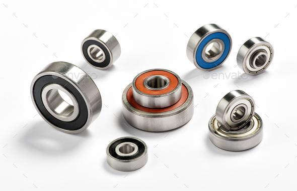 Set of metal bearings - Stock Photo - Images