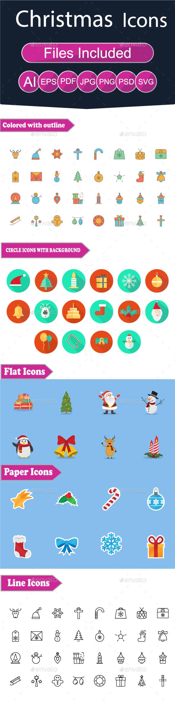 GraphicRiver Christmas Icon 21031970