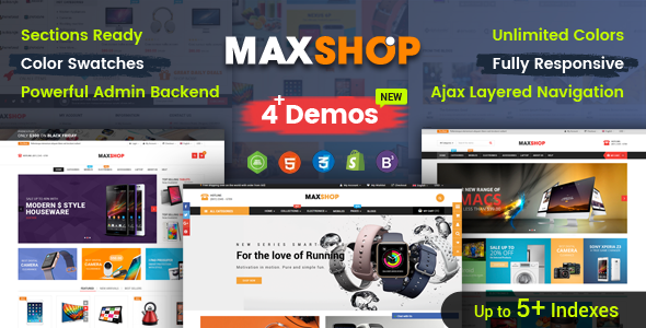 MaxShop - Advanced Multipurpose Shopify Sections Theme