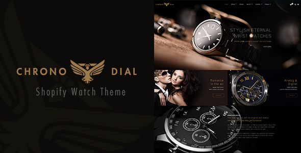 ThemeForest Chrona Dial Watch Shopify theme 21032210