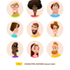 Characters Avatars in Cartoon Flat Style - GraphicRiver Item for Sale