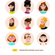 Characters Avatars in Cartoon Flat Style