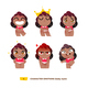 Baby Characters Emotions Set.