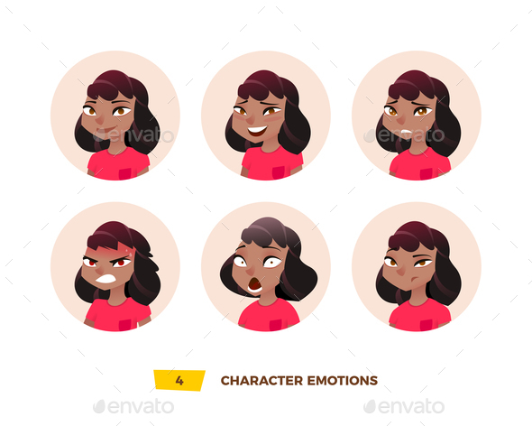 GraphicRiver Characters Avatars Emotion in the Circle 21032404