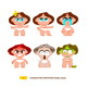 Baby Characters Emotions Set. - GraphicRiver Item for Sale