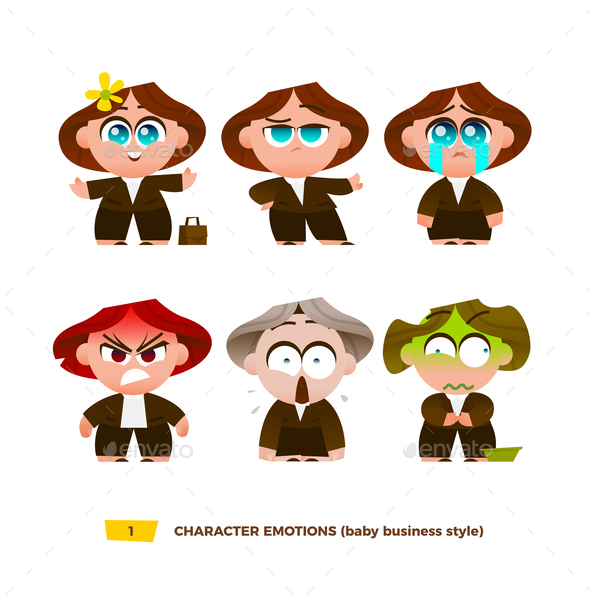 GraphicRiver Baby Characters Emotions Set 21032445