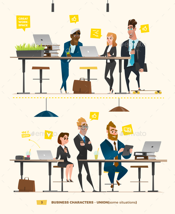 GraphicRiver Business Characters in the Working Environment 21032467