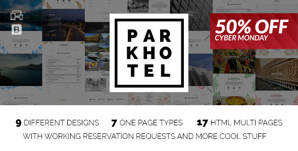 Parkhotel - Accommodation Multiple Designs HTML - Travel Retail