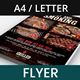 Barbecue and Steak House Flyer