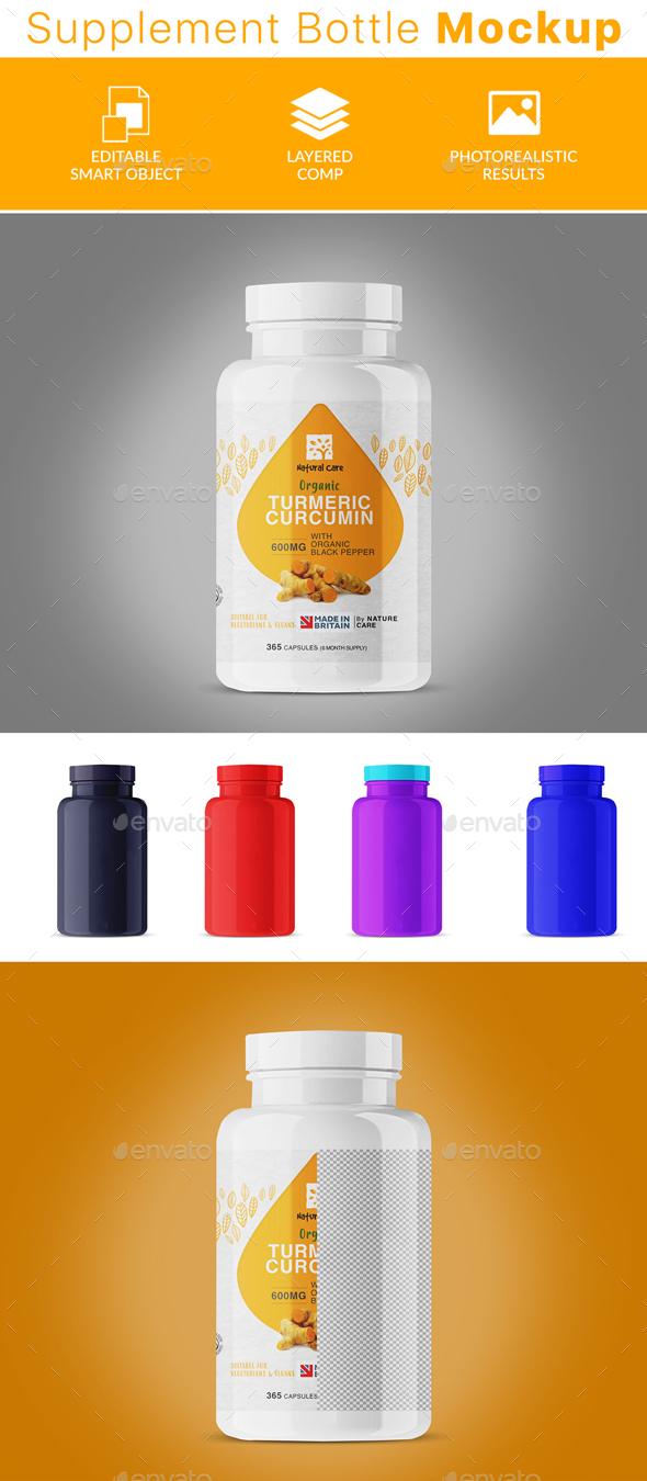 GraphicRiver Supplement Bottle Psd Mockup 21032788