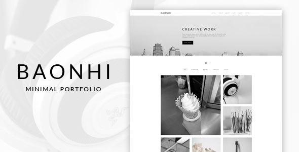 Baonhi - Minimal Portfolio WordPress Theme