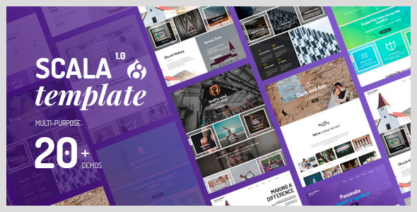 Scala | Multi-Purpose Onepage - Multipage Drupal 8 Theme