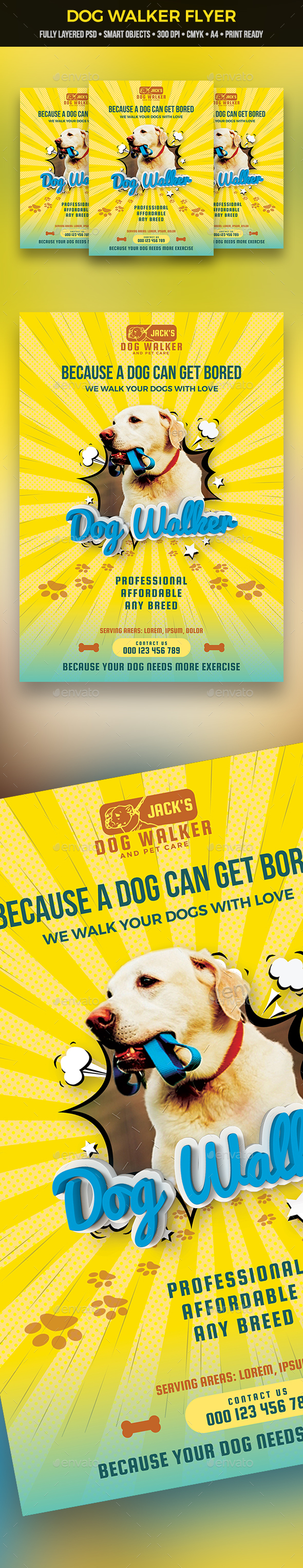GraphicRiver Dog Walker Flyer 21033007