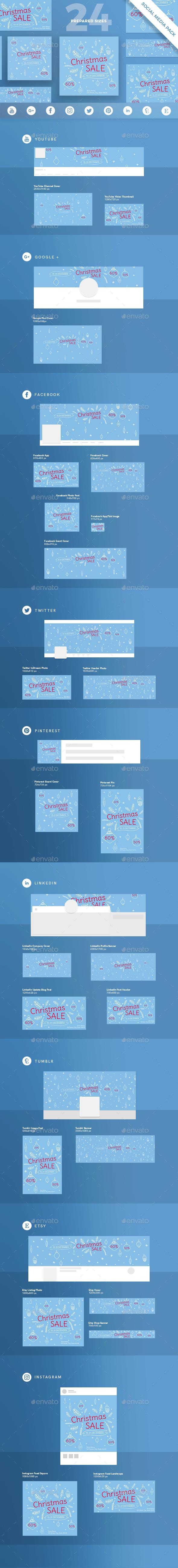 Christmas Sale Social Media Pack - Miscellaneous Social Media