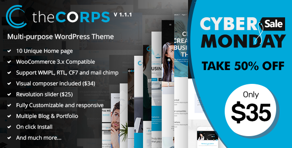 The Corps - Multi-Purpose WordPress Theme - Business Corporate