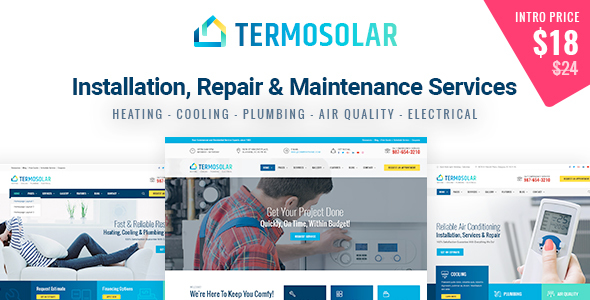 ThemeForest Termosolar Installation Repair & Maintenance Services HTML Template 20939117