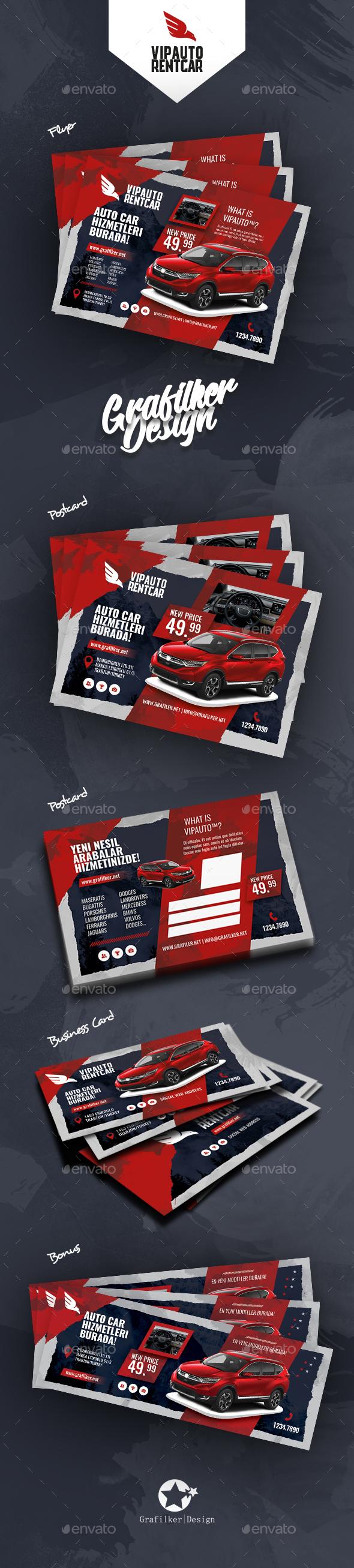 GraphicRiver Rent A Car Bundle Templates 21033131