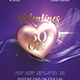 Valentine's day promotion flyer template - GraphicRiver Item for Sale