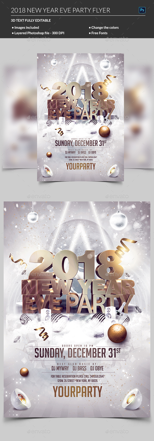 GraphicRiver New Year Eve Flyer 21033304