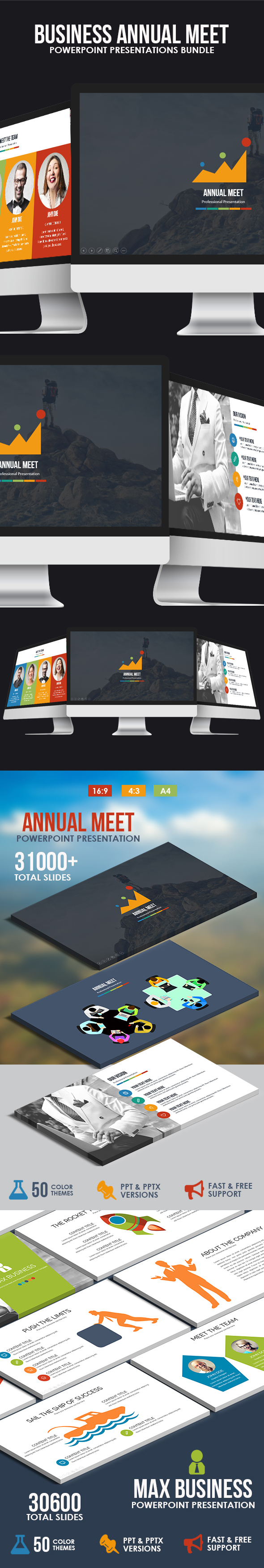GraphicRiver Business Annual Meet Powerpoint Template Bundle 21033703