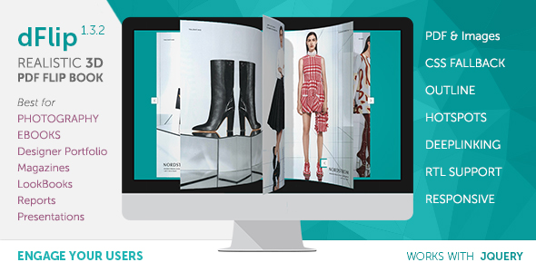 dFlip PDF FlipBook jQuery Plugin - CodeCanyon Item for Sale