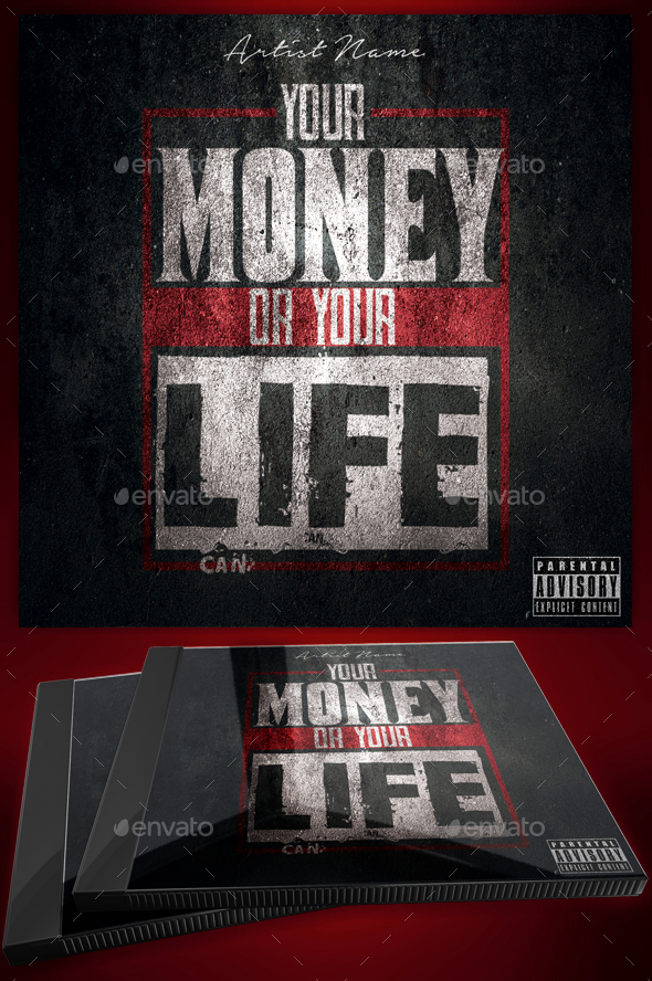 Money or Your Life Mixtape Cover / Flyer Template - CD & DVD Artwork Print Templates