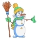 Cheerful Snowman Cartoon - GraphicRiver Item for Sale