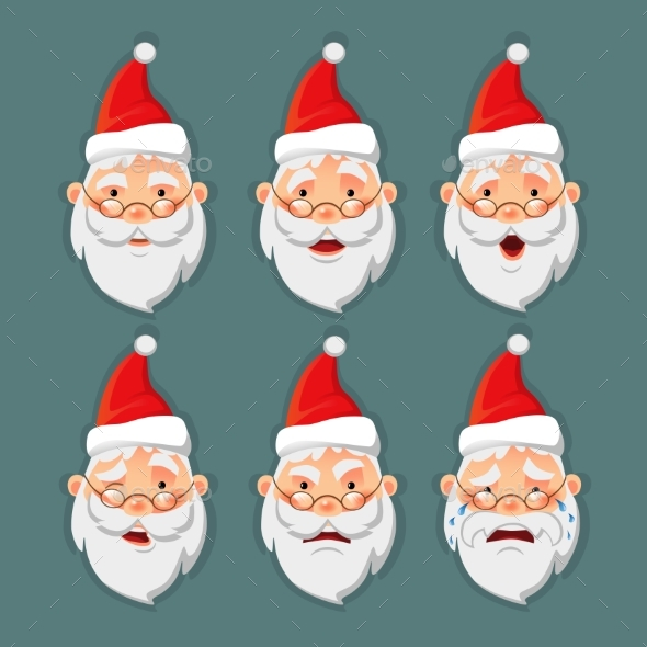Santa Claus Icon Set - Seasons/Holidays Conceptual