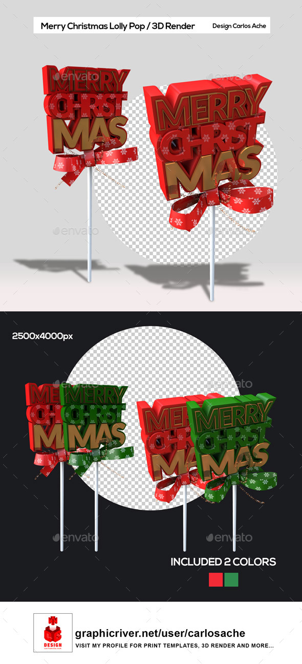 GraphicRiver Merry Christmas Lolly Pop 21034248