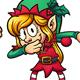 Dabbing Christmas Elves