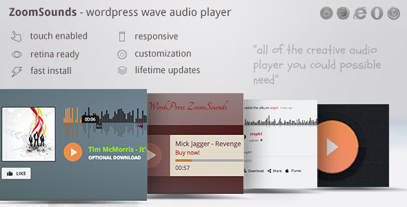 ZoomSounds - WordPress Wave Audio Player with Playlist - CodeCanyon Item for Sale
