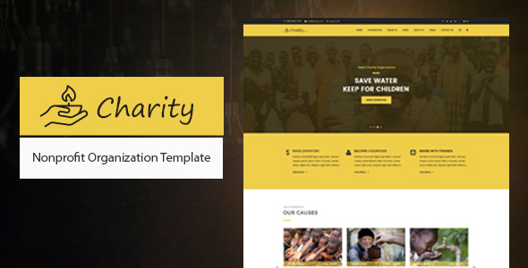 Charity - Nonprofit Organization Donation HTML Template - Charity Nonprofit