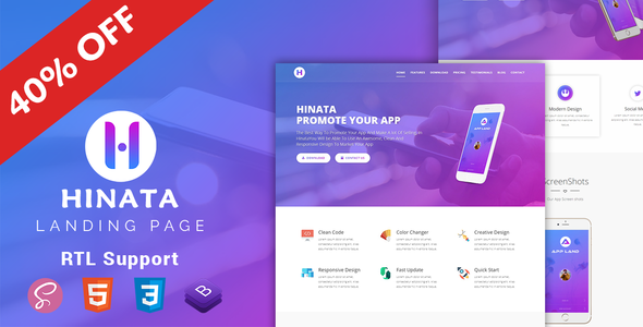 Image of Hinata | App Landing Page