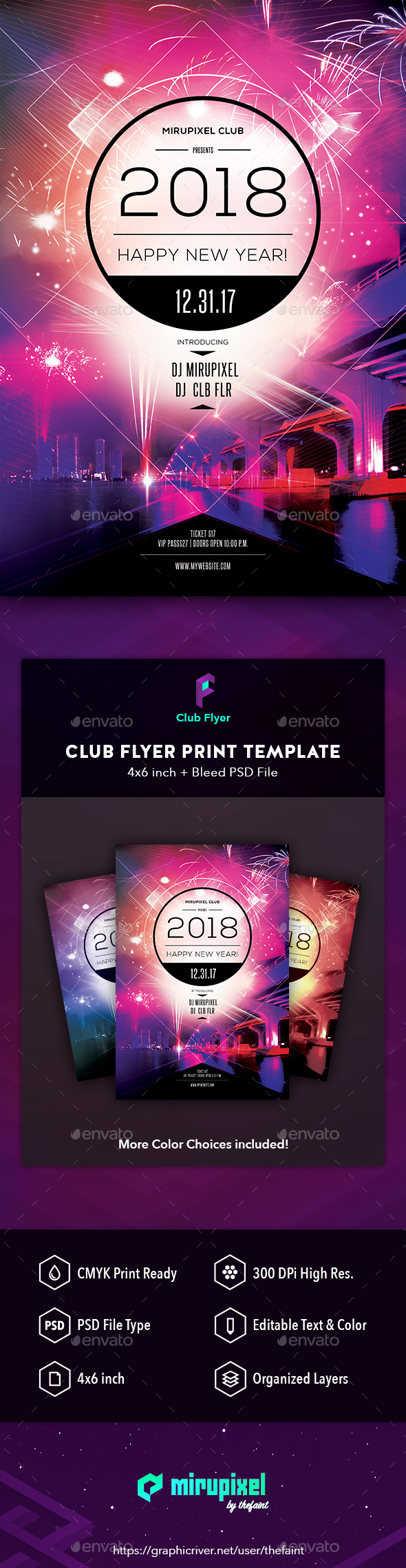 Club Flyer: New Year - Clubs & Parties Events