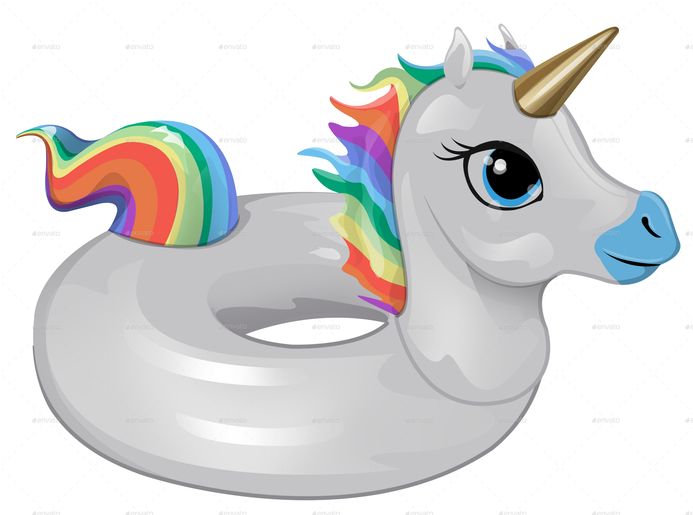 Rainbow Unicorn Float by HowlieKat | GraphicRiver