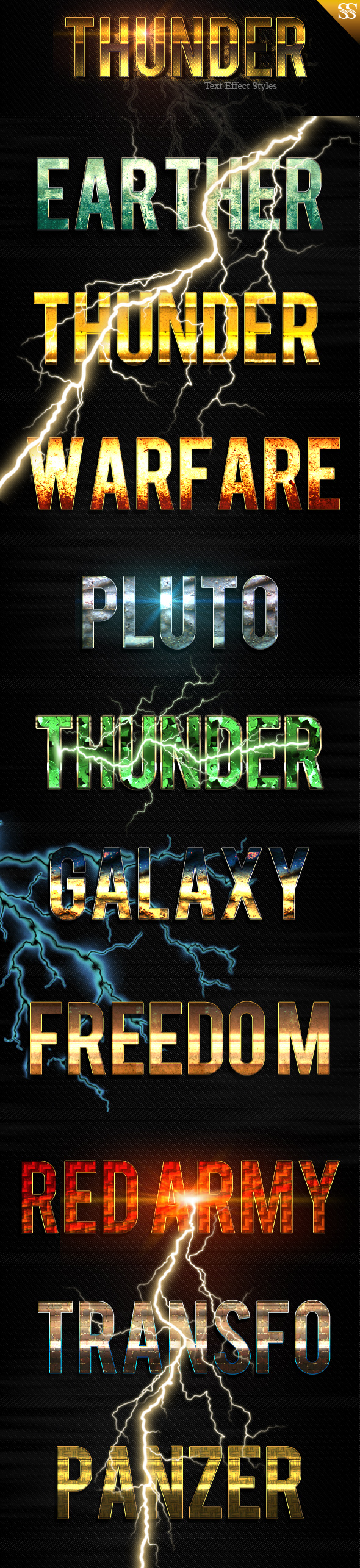 GraphicRiver Thunder Light Text Effect 21034816